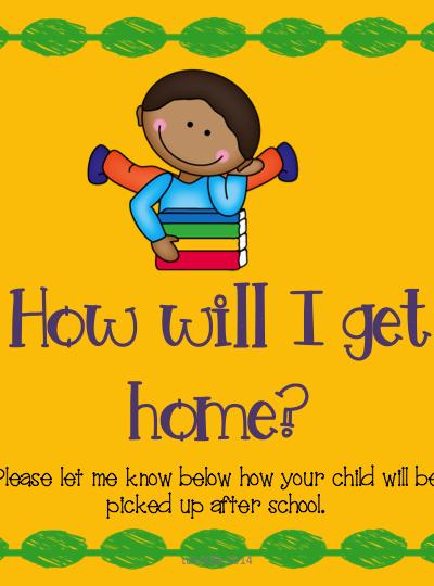 First Day of Kinder Teacher List